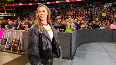 WWE UFC Ronda Hot Rod Royal Rumble