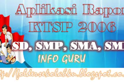 Aplikasi Rapor KTSP 2006 SD, SMP, SMA, SMK