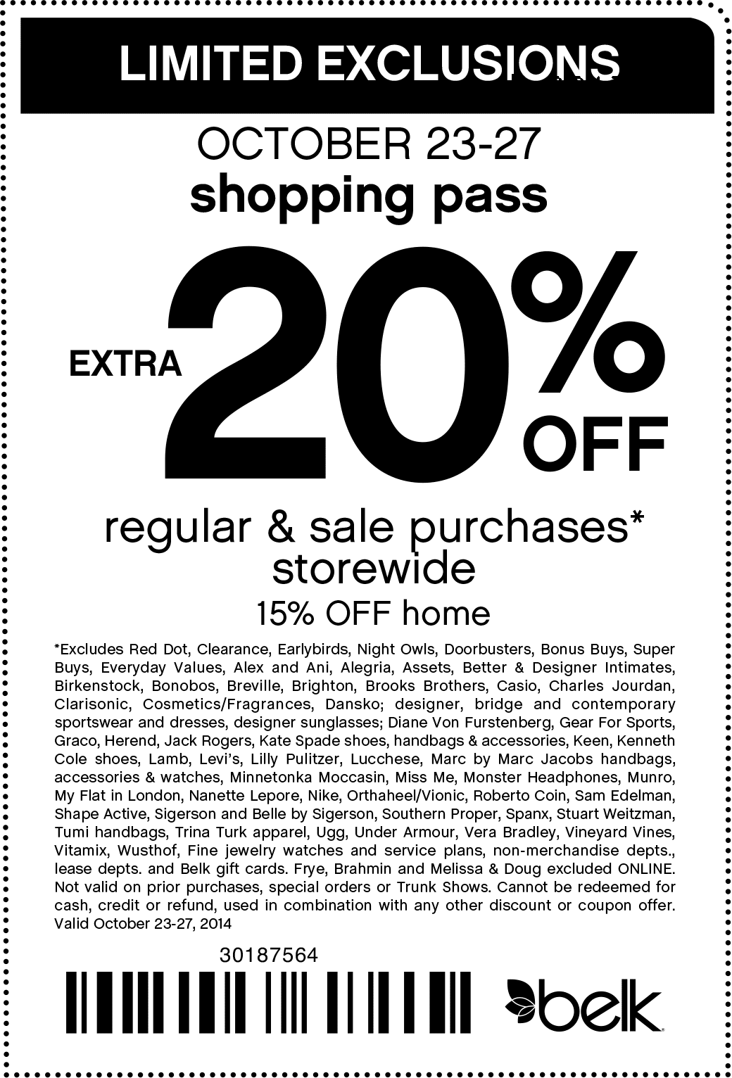 Belk coupons for perfume