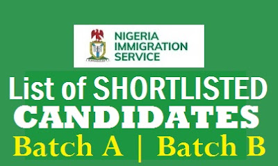 NIS Shortlisted Successful Candidates 2017 | Nigeria Immigration Recruitment