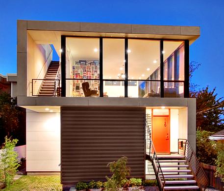 Gambar Rumah Minimalis Modern 2 Lantai Ukuran Sedang