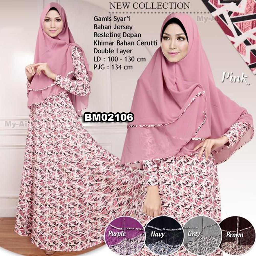 Bursa Grosir Busana Muslim Tanah Abang BM02106 Gamis Syari Jersey d84222fabb
