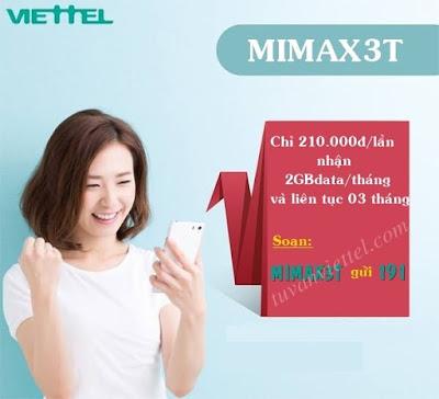 Nhận ngay 2GB data tốc độ cao mỗi tháng với gói Mimax3T Viettel