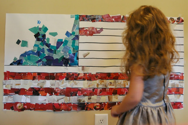 Fourth of July Flag Craft for Kids