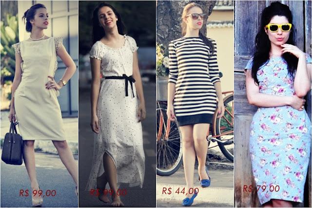 Loja que vende vestido retrô