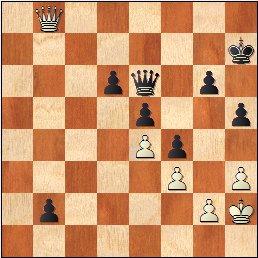 Torneo Nacional de Madrid 1941, partida de ajedrez Rey Ardid - Fuentes, posición después de 71.Db8