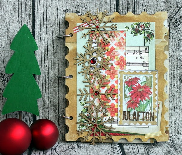 Julafton Mini Album by Ulrika Wandler using Christmas Collage Collection