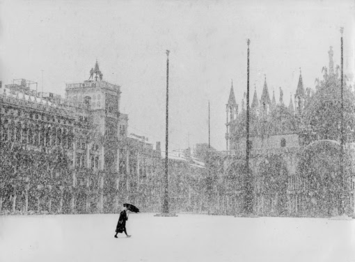 Bruno Rosso's photo of Venice in the snow, 1951.