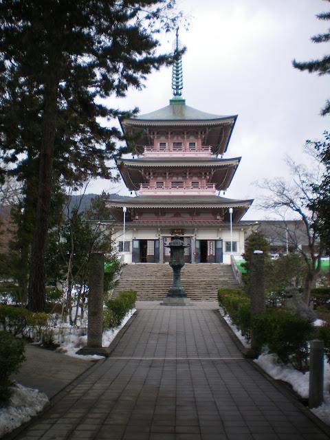 Pagoda del templo Zenko-ji en Nagano