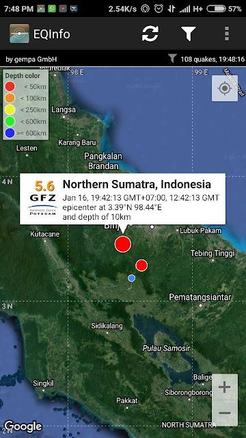 Gempa Kuat Terasa di Medan