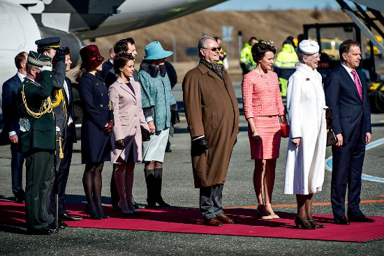 The Presidential couple of Finland was welcomed by the Danish Royal Family at the Copenhagen airport
