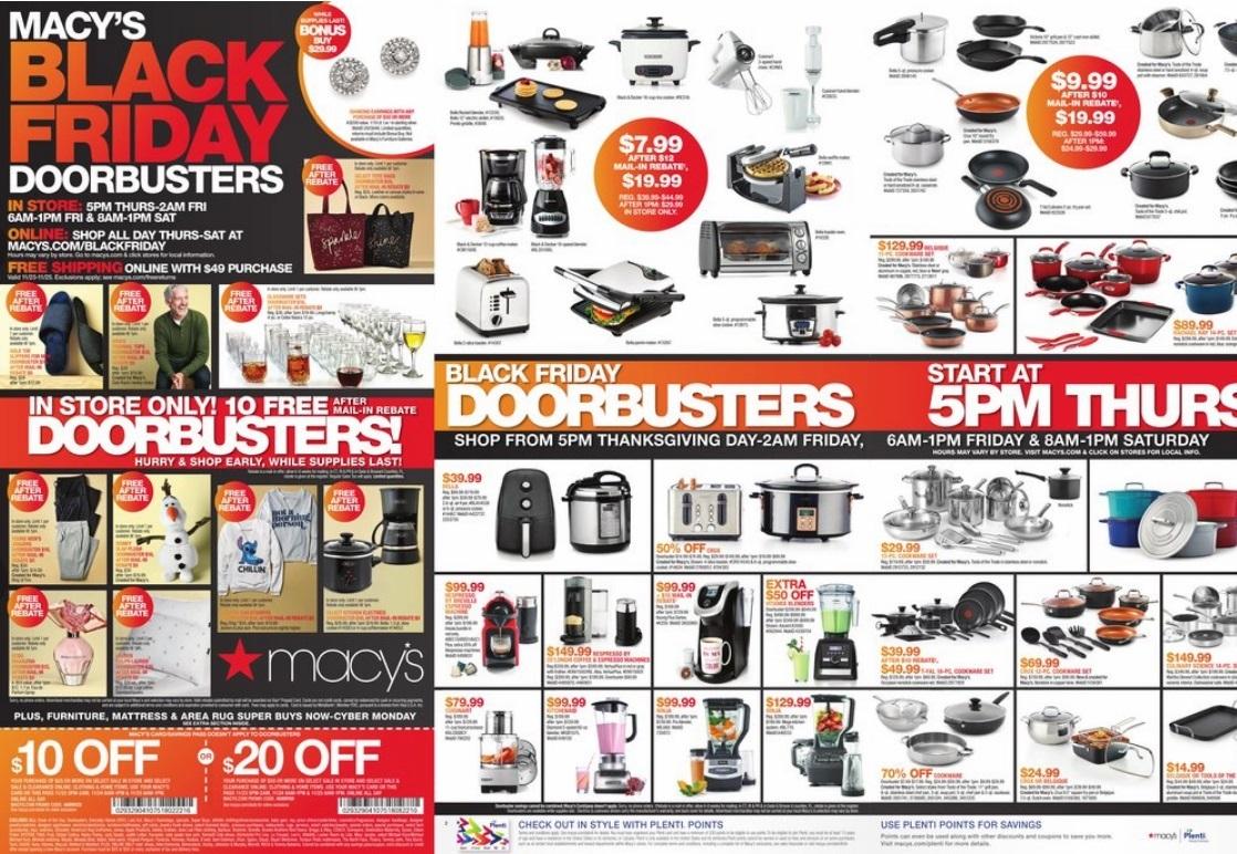 Macy S Black Friday Ad 2017 Doorbuster Deals
