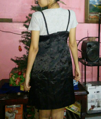 sewing, refashion, slip dress, diy