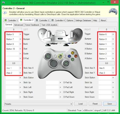 Jika gamepad sudah terdeteksi, gambar kontrol xbox 360 akan terlihat lebih jelas