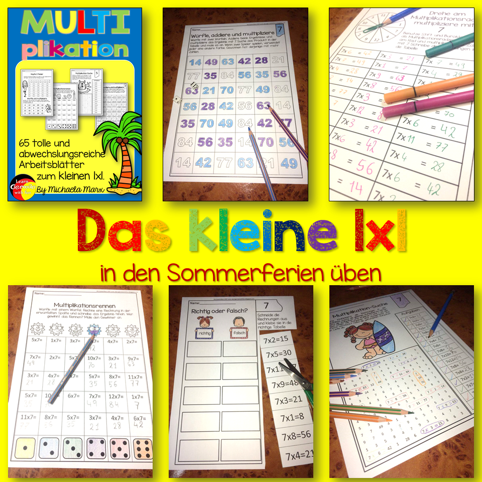 learn german with fun das kleine 1x1 lernen