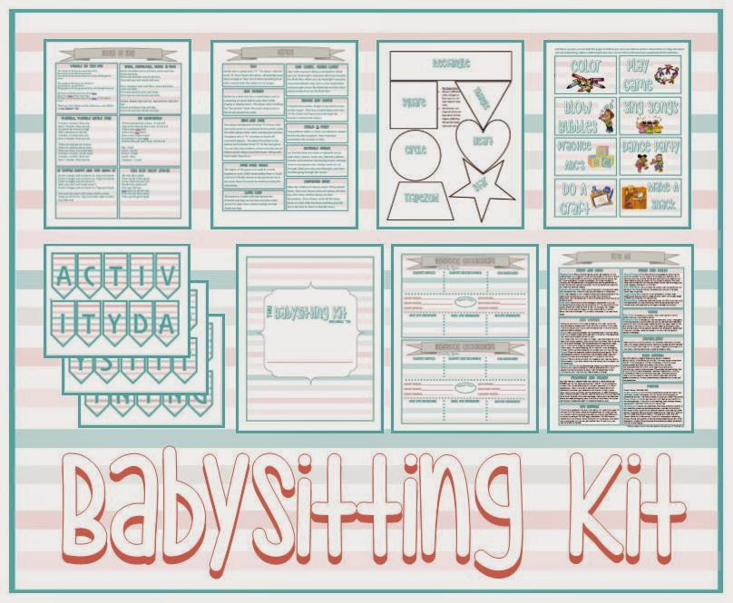 Activity Day Ideas: Activity Days Babysitting Kit - Serving
