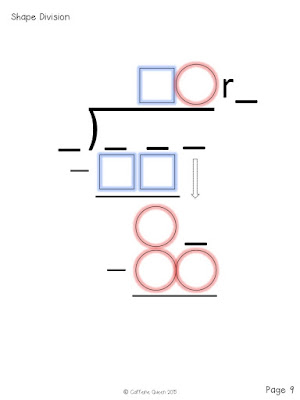 Wonderful division technique for math remediation and special education