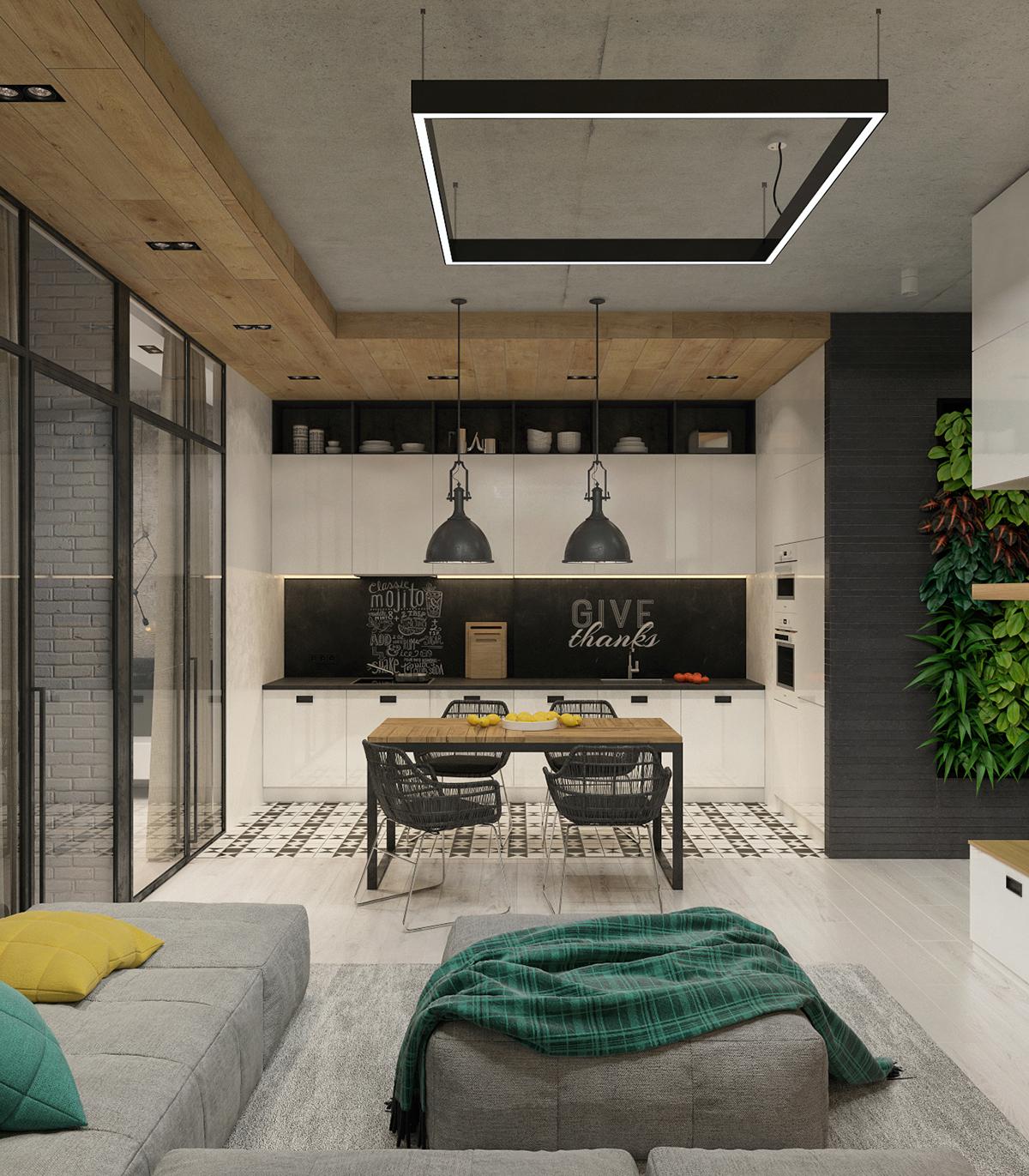 Proiect de amenajare pentru un apartament modern și tineresc din Rusia