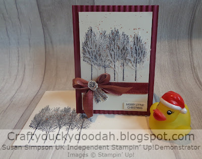 Craftyduckydoodah!, Stampin' Up! UK Independent  Demonstrator Susan Simpson, Winter Woods, Peacecul Noel, Supplies available 24/7 from my online store,