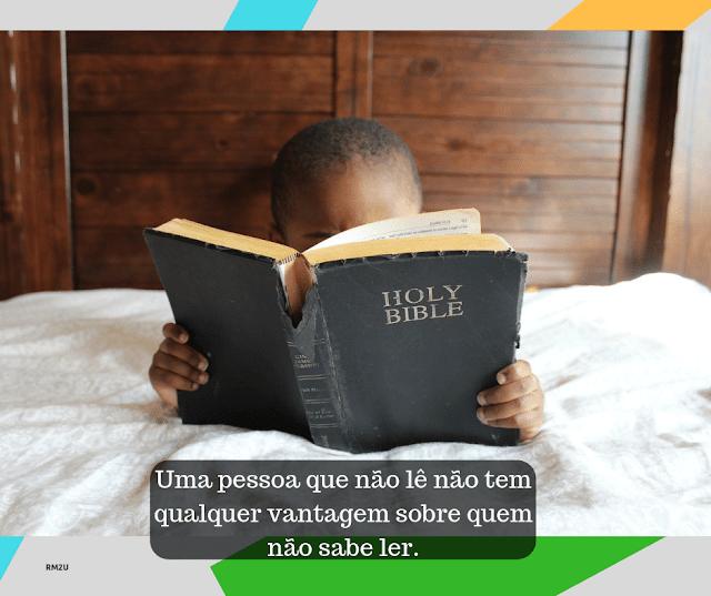 Uma pessoa que não lê