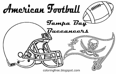 Tampa Bay Buccaneers printable American football logo drawing pictures for boys coloring USA sports
