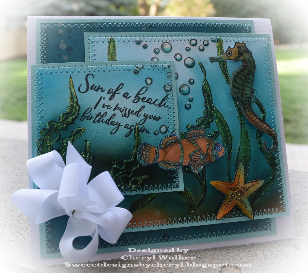 Under The Sea Birthday Wishes Card