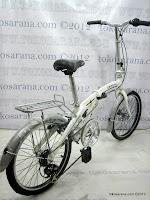 4 Sepeda Lipat Erminio 003 6 Speed Shimano dengan Rangka Aloi dan Rem Cakram 20 Inci