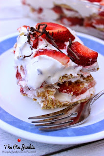 no bake strawberry cream refrigerator cake