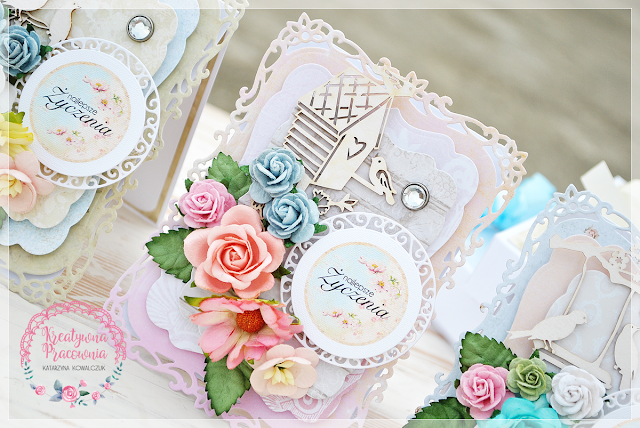kwiatowa kartka urodzinowa scrapbooking