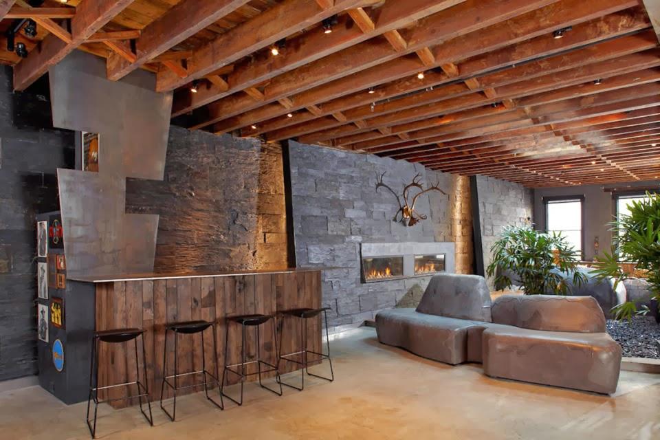Hogares frescos la belleza inesperada de las paredes r sticas - Paredes rusticas interiores ...