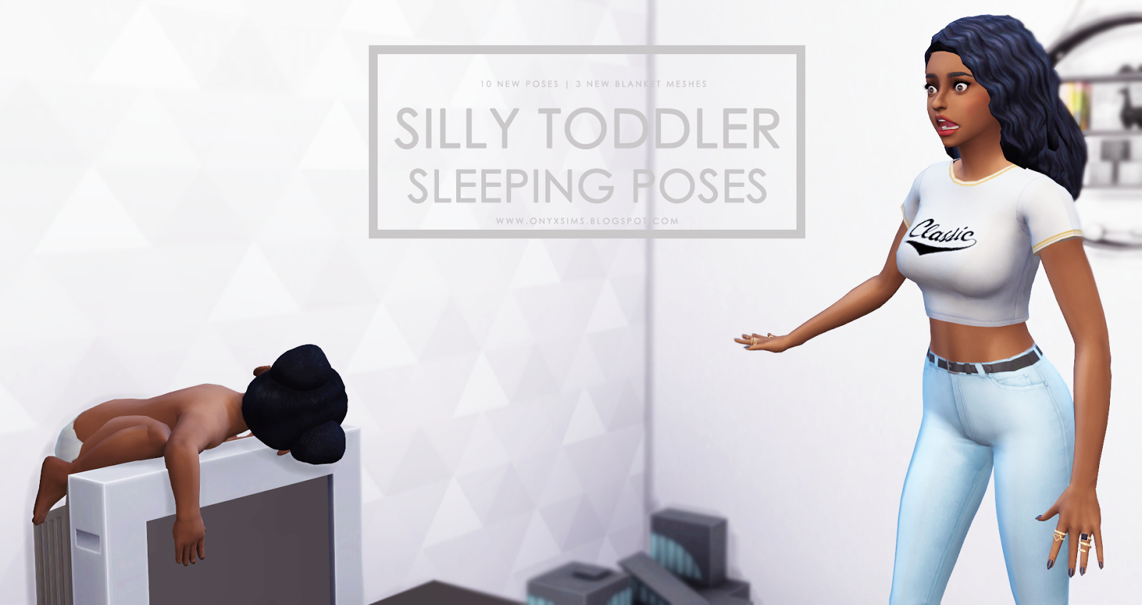 Silly sleeping toddler poses onyx sims