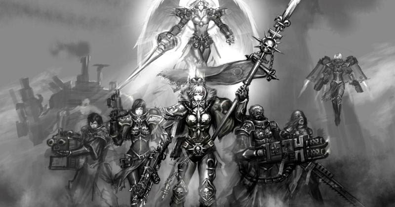 Warpstone Flux: Sisters of Battle Unit Review: Celestian Squad
