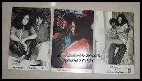 Kartupos gambar foto bintang film era 70an widyawati dan Sophan Sophian. Kartupos sudah terpakai , lihat belakangnya. minat hub 0858 6623 0123