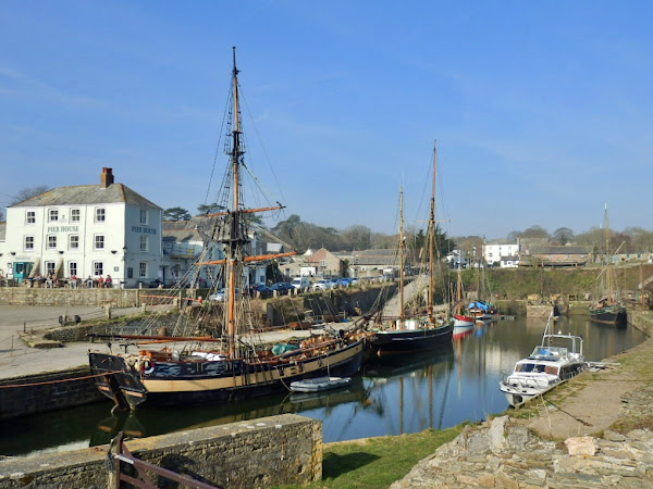 Tall sailing ships at Charlestown, Cornwall