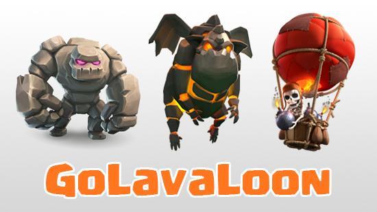 GoLavaLoon (Golem + Lava Hound + Balloon)