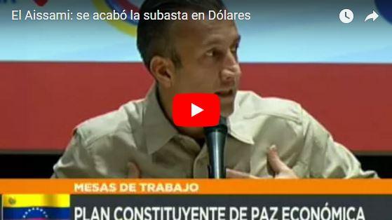 """Tareck el Aissami """"prohíbe"""" el Dólar en Venezuela para cualquier transacción"""
