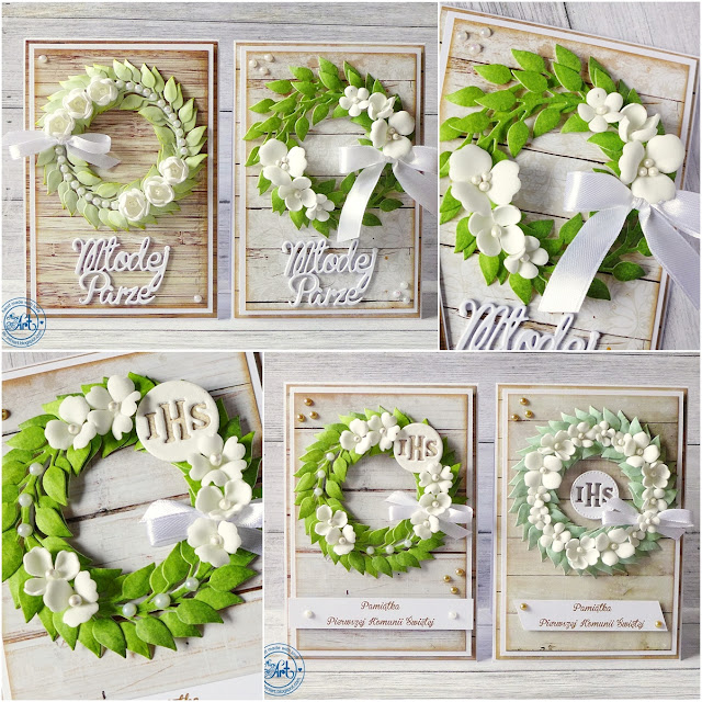Wianuszki na ślub i komunię / Wreaths for wedding and communion – DT Craft Passion