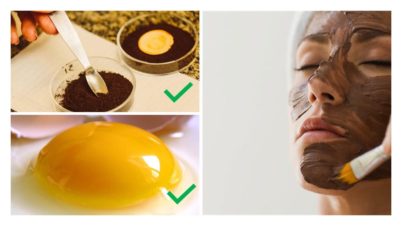 nueva productos calientes zapatos de temperamento colores armoniosos Mascarilla de huevo y café para la cara - EH Magazine