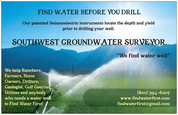 Don't Drill a Well Blindly, Find Water First, Southwest Groundwater Surveyors