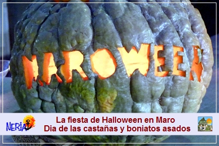 El 31 de octubre, se celebra en Maro la fiesta de MAROWEEN, resultado de jugar con las palabras Maro y Halloween