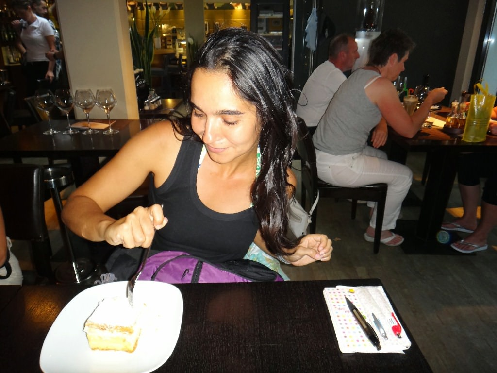 Onde comer torta Kremsnita em Bled