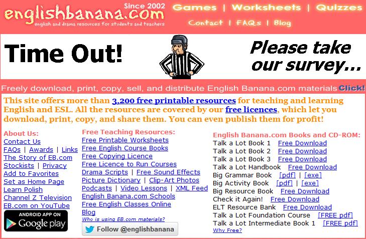 Games For Learn English English Banana