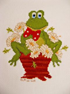 Kartka z żabką i żabi kwadracik