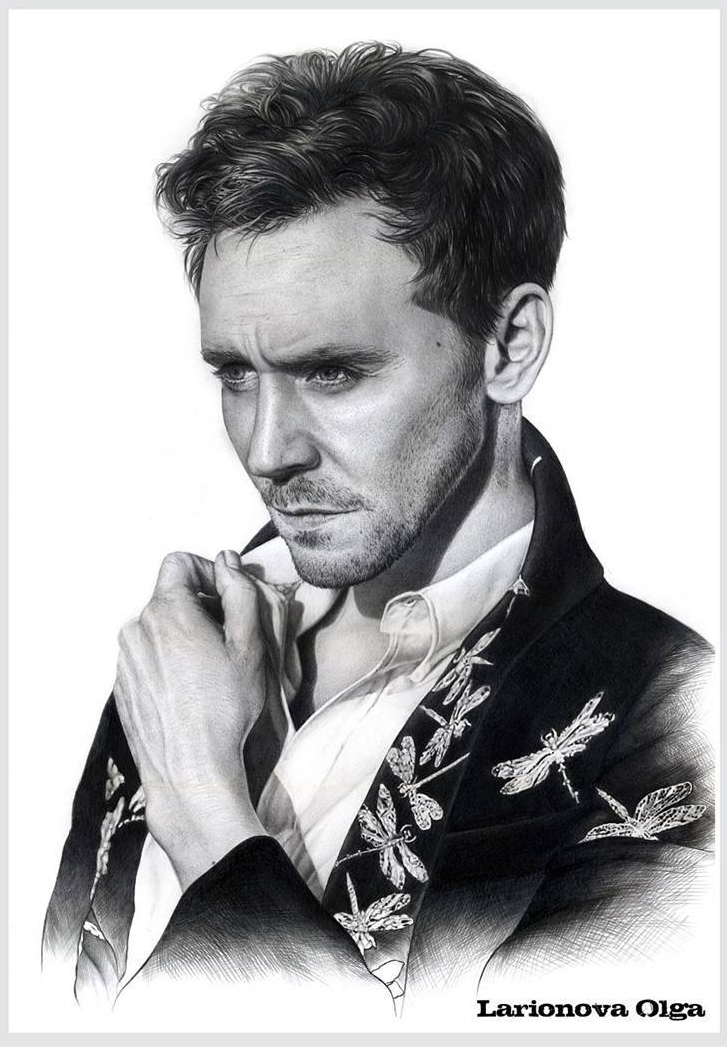 11-Tom-Hiddleston-Olga-Larionova-Melamory-Realistic-Black-and-White-Portraits-of-Celebrities