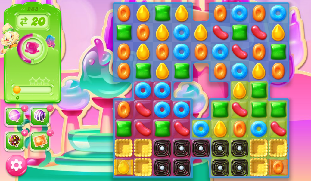 Candy Crush Jelly Saga 285