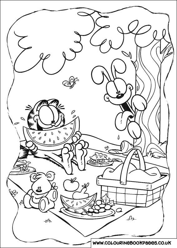 odie and garfield coloring pages - photo#26