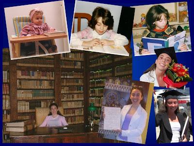 Leggere scrivere libri Silvana Calabrese da piccola e laurea - Blog