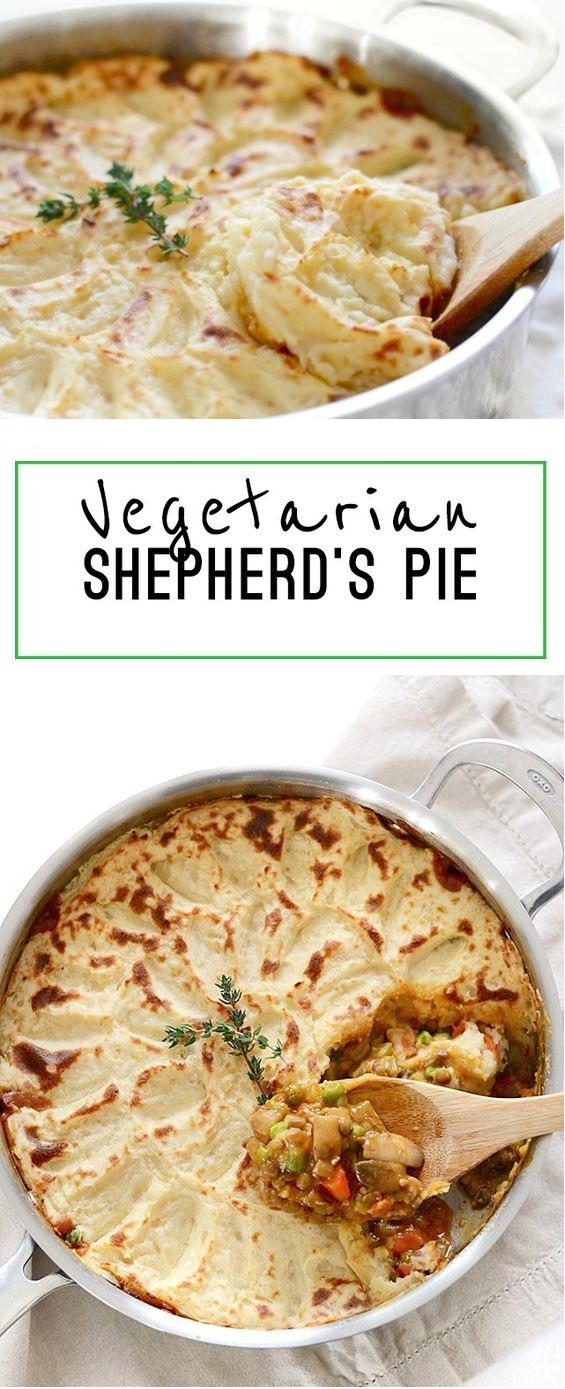 VEGETARIAN SHEPHERD'S PIE  #masonjar #healthy #recipes #greatist #vegetarian #breakfast #brunch  #legumes #chicken #casseroles #tortilla #homemade #popularrcipes #poultry #delicious #pastafoodrecipes  #Easy #Spices #ChopSuey #Soup #Classic #gingerbread #ginger #cake #classic #baking #dessert #recipes #christmas #dessertrecipes #Vegetarian #Food #Fish #Dessert #Lunch #Dinner #SnackRecipes #BeefRecipes #DrinkRecipes #CookbookRecipesEasy #HealthyRecipes #AllRecipes #ChickenRecipes #CookiesRecipes #ріzzа #pizzarecipe #vеgеtаrіаn #vegetarianrecipes #vеggіеѕ #vеgеtаblеѕ #grееnріzzа #vеggіеріzzа #feta #pesto #artichokes #brоссоlіSаvе   #recipesfordinner #recipesfordinnereasy #recipeswithgroundbeef  #recipeseasy #recipesfordinnerhealth #AngeliqueRecipes #RecipeLion #Recipe  #RecipesFromTheBlog #RecipesyouMUST #RecipesfromourFavoriteBloggers