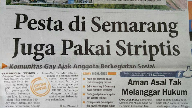 Semarang Tolak FPI, Tapi Pesta Maksiat Gay Dengan Penari Telanjang Dibiarkan Marak