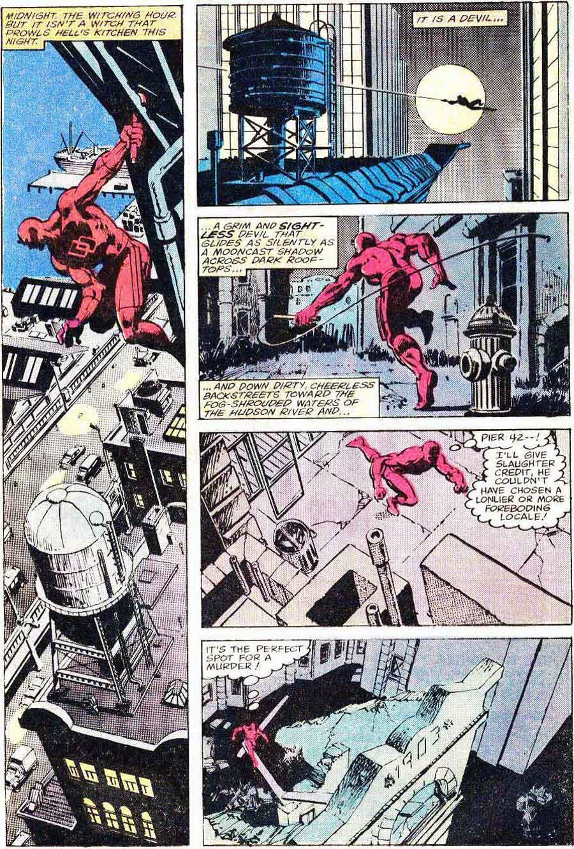 Daredevil v1 #159 marvel comic book page art by Frank Miller